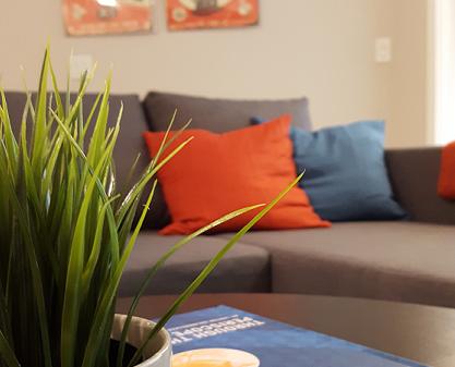 IKEA coffee table sofa prints
